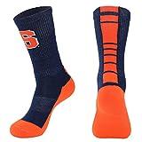 NCAA Syracuse Orange Men's Champ Performance Crew Socks, Navy Blue, Large