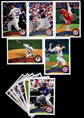 2011 Topps Texas Rangers Complete Series 1 & 2 Team Set / 25 Cards including Cliff Lee, Neftali Feliz, CJ Wilson, Guererro, Hamilton, Harrison, Kinsler, Mitch Moreland & more!