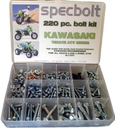 Specbolt Kawasaki Tecate ATV Bolt Kit for Maintenance & Restoration OEM Spec Fasteners Quad