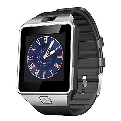 Padgene® Montre Connectée Bluetooth Smart Watch Montre Intelligente Bluetooth montre Smart Watch avec camera pour Samsung S5 / S6 / S6 Bord / Note 2/3/4, Nexus 6, HTC, Sony et d'autres Android smartphones, Noir + Argent