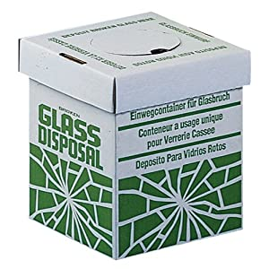 "Bel-Art Scienceware 246530002 Disposal Benchtop Carton for Glass, 8"" Length x 8"" Width x 10"" Height (Pack of 6)"