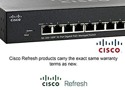 Cisco Refresh SG300-10PP Gigabit Switch Managed 8-port PoE+ 2x Gigabit SFP