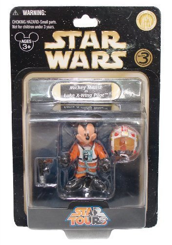 Buy Low Price Disney Mickey Mouse as Luke X-Wing Pilot 3″ Mini-Figure – Star Wars Star Tours Series #3 (Disney Theme Park Exclusive) (B002NXOYFY)