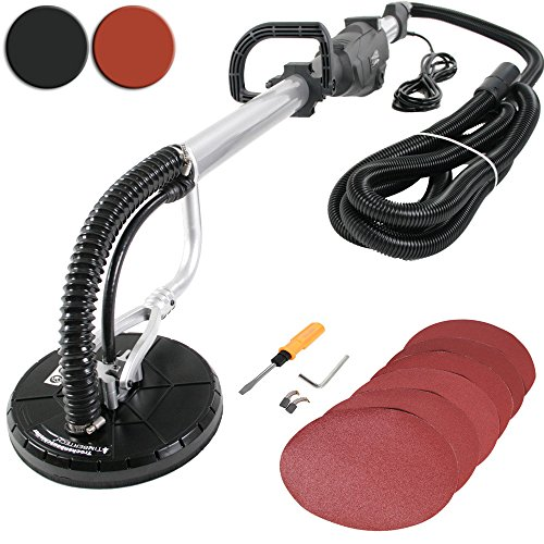 Timbertech-Trockenbauschleifer-Langhalsschleifer-Leistung-710W-inkl-Schleifpapierscheiben-in-Schwarz-oder-Rot-TV-SD-GS-zertifiziert