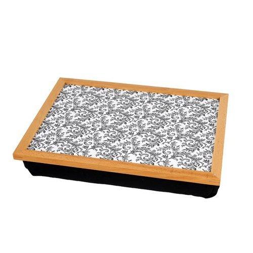 HAB-GUT-Tablettkissen-mit-Holzrahmen-schwarz-weiss-Ornament-tk103