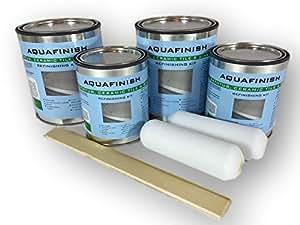 AquaFinish Bathtub Refinishing Double Kit, COATING ONLY