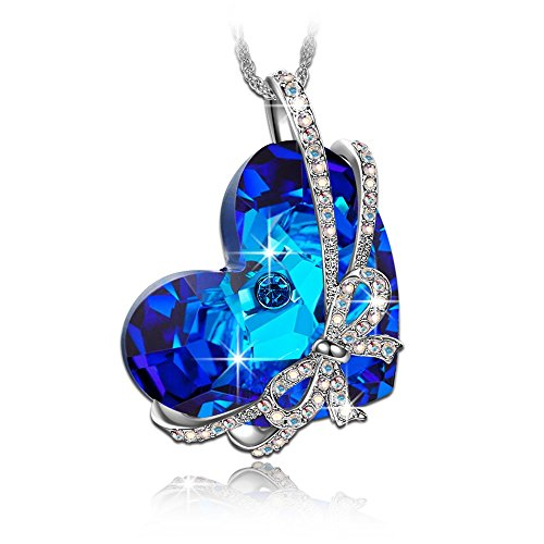 Qianse-Heart-of-the-Ocean-Bowtie-Pendant-Necklace-Made-with-SWAROVSKI-Crystal-Women-Heart-Jewelry