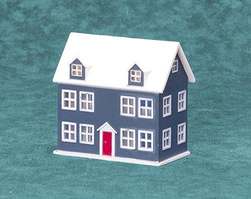 Miniature Little Blue Dollhouse for the Dollhouse