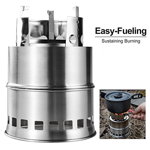 Zhongmei Portable Wood Camping Stove,Ultra Windproof (Marine Wood Stove compare prices)