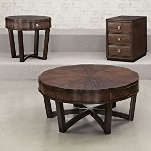 American drew miramar 3 piece round coffee for Coffee tables amazon