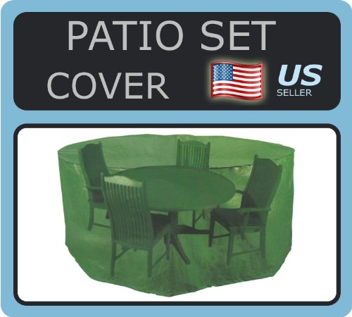 Patio Set Cover - 74-inch Round Table & Chairs Cover X 33-inch High