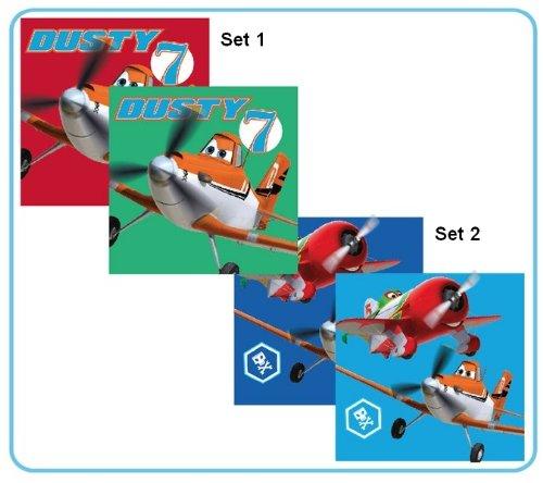 Disney Planes 2er Set KINDERHANDTUCH 30x30cm, Waschlappen Waschfleck Gästehandtuch (Set 1)