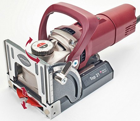 Find Cheap Lamello Top 21 800-Watt Biscuit Joiner, Red Crimson