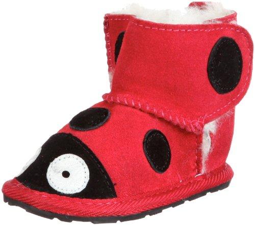 Emu Unisex-Baby LC Walker Ladybird First Walking Shoes B10317 Red 18-24 Months, 18 EU, Regular