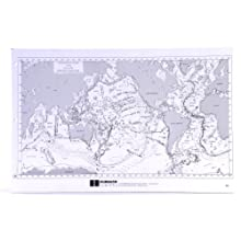 "American Educational Sea Floor Physiography Note Pad with 100 Sheets, 17"" Length x 11"" Height"