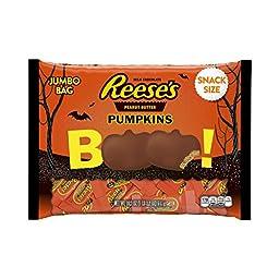 REESE\'S Halloween Snack-Size Peanut Butter Pumpkins (19.2-Ounce Bag)