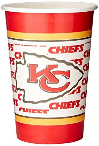 NFL Kansas City Chiefs Disposable Paper Cups (20-Pack)