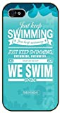 iPhone 5C Just keep swimming. We swim - black plastic case / Walt Disney And Life Quotes, nemo, finding
