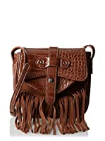 Cortefiel Bandolera Mini Fringes Bag (Marrón)