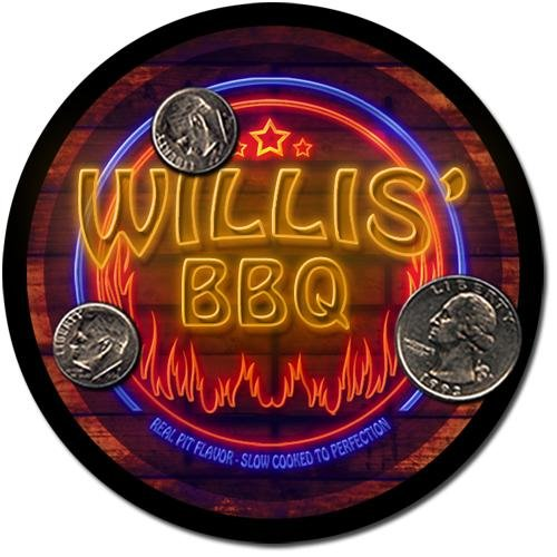 Willis' Barbeque Drink Coasters - 4 Pack