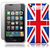IPHONE 3G 3GS ENGLAND UNION JACK BACK COVER CASE WITH SCREEN PROTECTOR PART OF THE QUBITS ACCESSORIES RANGEby Qubits