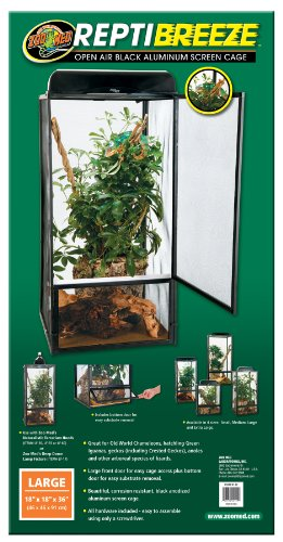 Zoo Med Laboratories Inc-Reptibreeze Screen Cage Large