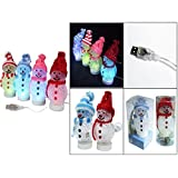 USB Power Desk Mini LED Glowing Lights For Christmas Holiday Decoration (Snowman)
