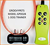 GROOVYPETS REMOTE CONTROL RECHARAGEABLE COLLAR WITH VIBRATION AND SHOCK FOR ONE DOG TRAINING