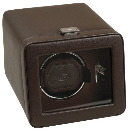 Wolf Designs 4525519 Module 2.5 Single Brown Watch Winder with Cover