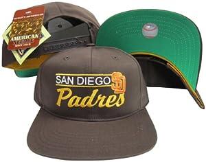San Diego Padres Brown Snapback Adjustable Plastic Snap Back Hat Cap by American Needle