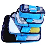 Travel Packing Cubes - 4pc Set, Packing Cubes Travel Bags Sets for Suitcases and Luggage- Best Quality Nylon Mesh Travel Purse, Durable Pack It Cubes, That Makes Travel Easy and Convenient.