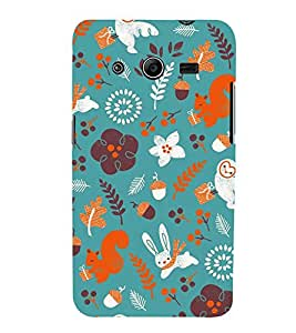 Rabbit Flowers Grass 3D Hard Polycarbonate Designer Back Case Cover for Samsung Galaxy Core 2 G355H