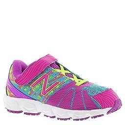 New Balance KV890I Running Shoe (Infant/Toddler), Pink/Green, 2 M US Infant
