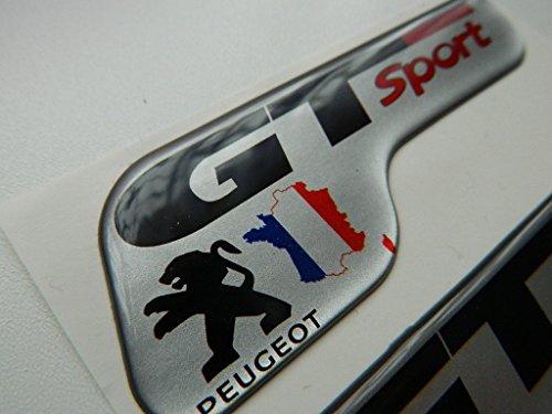 X2 SET OF PEUGEOT GT SPORTS BADGE EMBLÈMES