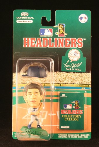 1996 - Corinthian - MLB - Headliners - Paul O'Neill - New York Yankees - Baseball Figure - w/ Collector's Catalog - Limited Edition - Collectible