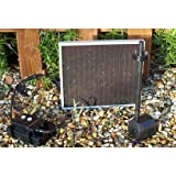 Solar Fountain Pump 79 GPH with LED Lights