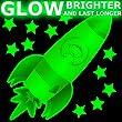 CUTE SPACE ROCKET Glow-in-the-Dark stickers - MEDIUM