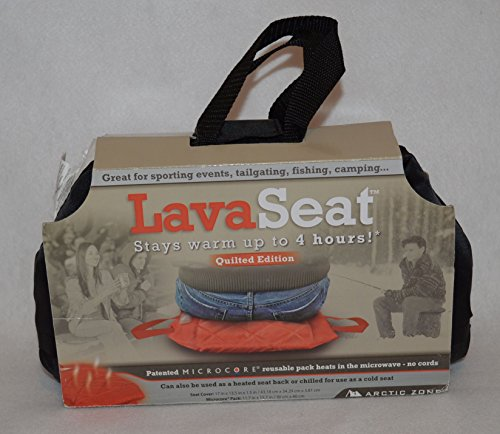Lava Seat Black Quilted Heated Cushion Microwave Sporting Events Camping Fishing Arctic Zone (Microwave Heated Seat compare prices)
