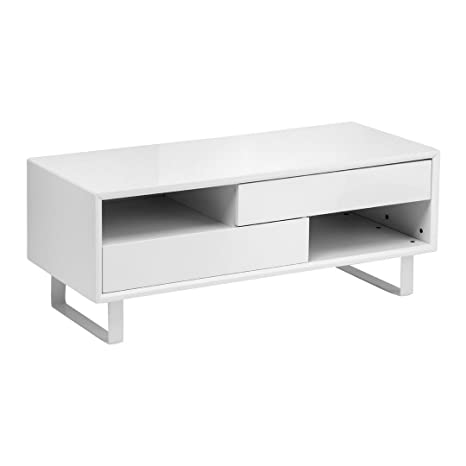 Protege Homeware White High Gloss 2 Shelves Coffee Table