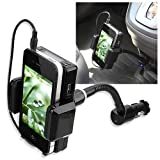 eForCity FM Transmitter Car Charger Compatible with Samsung© Galaxy S 4G