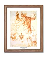 Michelangelo The Human Body Home Decor Wall Picture Oak Framed Art Print