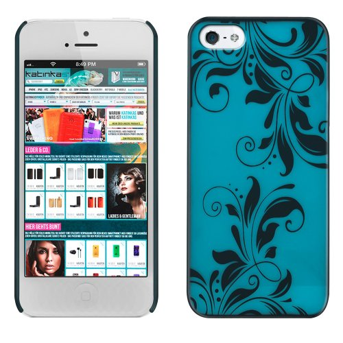 Great Sale KATINKAS 2108053790 Hard Cover for iPhone 5 - Orchid - 1 Pack - Retail Packaging - Blue