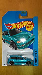2014 Hot Wheels Hw City 1990 Honda Civic EF   Teal Blue available at Amazon for Rs.1374