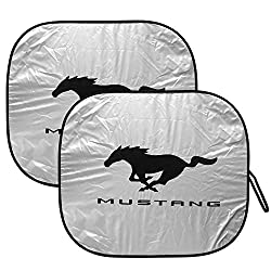 See Ford Mustang Folding Dual Panel Windshield Sun Shade Details