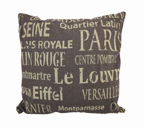 Woodland Imports Paris Tourist Destinations Theme Pillow front-312450