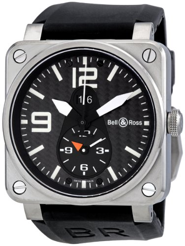 Bell and Ross Aviation GMT Carbon Fiber Dial Mens Watch BR0351-GMT
