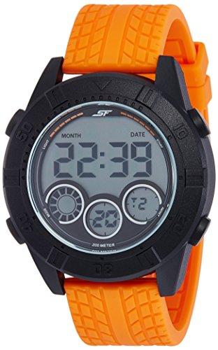 Sonata Digital Grey Dial Men'S Watch (77038Pp03)