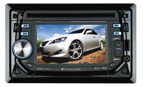 Planet Audio P9730 4.5-Inch Double-Din In-Dash Receiver with Widescreen Touchscreen Monitor