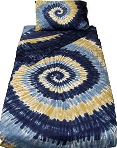 Waterfall Spiral Tie Dye Bedding - Full