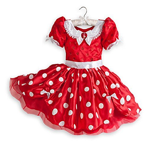 Disney Store Minnie Mouse Dress Costume Halloween Fancy Red Size 5/6 New